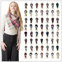 Wholesale oversize plaid scarf for sale - 28 Styles Winter Plaid Scarf Triangle Tassel Scarves Oversize Blanket Scarf Shawl Fashion Plaid Shawls Thick Warm Scarf CCA10403