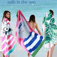 Wholesale Cute Beach Towels Wholesale - Cute Cartoon Beach Towel 160*80cm Animal Printed Adults Swimming Bath Towel Travel Quick Drying Bathroom Towels OOA4558