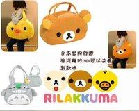 peluş tavuk oyuncakları toptan satış-Candi Guo! Süper sevimli peluş oyuncak omuz çantası Totoro rahatla kuma Rilakkuma ayı Tavuk çanta doğum günü Noel hediyesi 1 adet