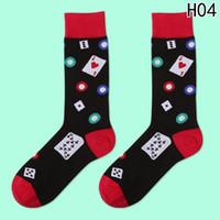 harajuku yüksek çoraplar toptan satış-Sıcak Satış 1 Çift Yüksek Kalite Çorap Erkekler Nota Bira Baskılı Coon Hip Hop Uzun Komik Çorap Harajuku Tasarımcı