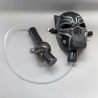 bong setleri toptan satış-Gaz Maskesi Ile güzel Akrilik Borular Bir Set Panter Görüntü Yumuşak Boru Sigara Soğuk Su Boru Bongs Toptan Ücretsiz Kargo