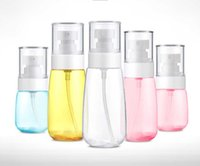 Wholesale perfume plastic - Drop Ship 30 60 80 100ml Refillable Portable Mini Perfume Bottle &Traveler Spray Atomizer Empty Perfum Bottle Scent Pump Case Tools