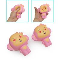 brinquedo do macaco do amor venda por atacado-Macaco de amor Kawaii Squishy Brinquedos 12 CM Jumbo Lento Rising Animal Bonito Rosa Squishies Descompressão Brinquedo Presentes