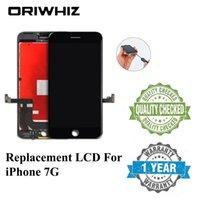 orden iphone lcd al por mayor-ORIWHIZ Calidad de grado superior para iPhone 7 7G Asamblea de digitalizador de pantalla táctil LCD Color blanco y negro Embalaje perfecto Embalaje rápido Orden de mezcla