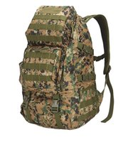 ingrosso rilievi di spalla dello zaino-Zaino militare di grande capacità Camouflage Oxford Outdoor Pack Molle Imbottito Army Combat Hiking Camping Backpack Military Shoulder Bag