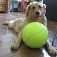 ingrosso grandi palline giocattolo gonfiabili-24 cm grande palla da tennis giocattolo pet dog gonfiabile palline da tennis mastica giocattolo 9.5 pollici gigante pet toy mega jumbo bambini giocattoli palle all'aperto