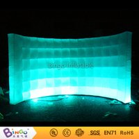 Wholesale Partition Free - Free Shipping Inflatable wall partition 3M oxford nylon Lighting inflatable photo booth wall BG-A0734 toy