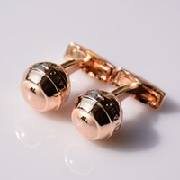 Wholesale Copper Cufflinks - Brand Hot Sale Crystal Wholesale MB Cufflinks For Man six Star Branding Sleeve Buttons Luxury Cuff Links For Groomsmen
