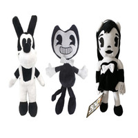 Wholesale inked girls - 100% Cotton 27- 30cm Bendy and the ink machine Dog And Girl Plush Doll Stuffed Toy Best Gifts
