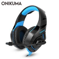 Wholesale red pc computers for sale - Group buy ONIKUMA K1 PS4 Gaming Headset with Microphone Casque PC Stereo Headphones for Cell Phone New Xbox One Laptop