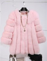 Wholesale Mink Hair Fur Coat Women - Environmental protection artificial wool imitation fox fur coat, long hair thick wool Seto mink cashmere wool shirt