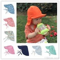 Wholesale boys swim hat - Children Sun Hat Summer Swim Hat Baby Toddler Flap Sun Protection Breathable mesh cloth Quick Drying Boys Girls baby sun hat BH125