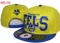 Wholesale snapback plastics - 2018 hot! new NRL Parramatta Eels Snapback Hat Nrl Teams Snapbacks Hats Adjustable Ball Caps Men Women Summer Beach Sun Cap