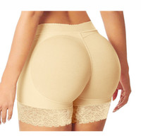 moldeador trasero acolchado al por mayor-Hot Shaper Sexy Boyshort Bragas Mujer Fake Ass Underwear Push Up Bragas acolchadas Buttock Shaper Butt Lifter Hip Enhancer