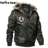 ReFire Gear Winter Military Bomberjacke Männer Air Force Armee Taktische Jacke Warme Wolle Liner Oberbekleidung Parkas Hoodie Pilot Mantel S1031