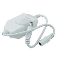 interrupteur de gradateur de lumière blanche achat en gros de-Contrôleur de luminosité de commutateur de luminosité de gradateur pour 3528 5050 5730 5630 Lumière de bande de couleur simple DC 12V 24V noir blanc