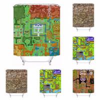 Wholesale cartoon map - Custom Zelda Map Bathroom Acceptable Shower Curtain Polyester Fabric Bathroom Curtain #180320-01-197