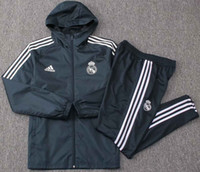 Wholesale best selling jersey resale online - 18 Best selling new Real Madrid jacket windcheater Suit tracksuits soccer jersey Isco home and away Bell Windbreaker coat