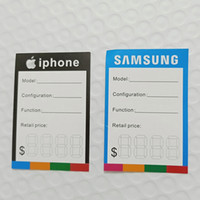 Wholesale new large cell phones resale online - New Billboard phone labels of Acrylic mobile phone Display Stand Large screen cell phone mounts Price Labels for iphone samsung Galaxy S9
