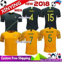 Wholesale free shipping world - Free shipping new CAHILL MILLIGAN jerseys 2018 World Cup home away soccer jerseys 18 19 LECKIE JEDINAK football shirt