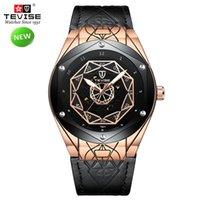 tevise роскошные мужчины оптовых-TEVISE T821 мужские часы топ бренд роскошные автоматические часы мужские механические часы водонепроницаемый армированное стекло световой Wriswatch