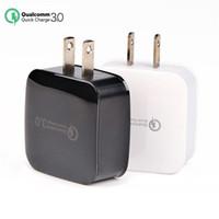 Wholesale charger 5v 9v 12v online – Fast Wall Charger QC3 V V V Quick Charger EU US USB Adapter Fast Charging for smart phone S8 Note8 iP8 LG