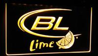 ingrosso neon luminoso di bud-LS053-y Bud Light Lime Beer Luce al neon segno Decor Dropshipping di spedizione all'ingrosso 8 colori tra cui scegliere