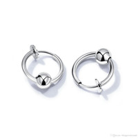 64199fc2673a Pendientes del amante de acero inoxidable Punk hombres mujeres pendiente  bola círculo anillo pendiente Piercing Hip Hop joyería regalo de Navidad  RO472