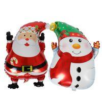Wholesale Christmas Inflatable Santa Claus - cartoon Christmas tree foil balloons Santa Claus helium balloon merry Christmas decoration inflatable classic toys