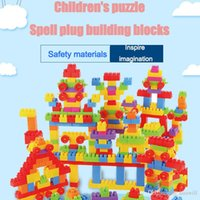 400894778 Large particles of plastic building blocks boxed baby kindergarten early  education puzzle spell assembled DIY toys