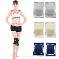 Wholesale volleyball knee protectors - 1 Pair Kneepad Football Volleyball Extreme Sports Knee Pads Eblow Brace Support Lap Protect Cycling Knee Protector DDA286