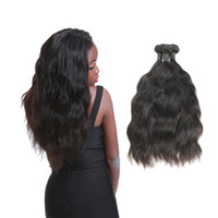 Wholesale hair weave supplies - Laflare Hair Products Peruvian Natural Black Human Hair Soft Weaves Virgin Hair 3 Bundles Factory Directly Supply