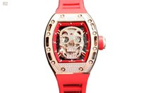 треугольные часы оптовых-Sport Fashion Design Geometric Triangle Case Brown Leather Strap 3 Dial Men Watch Top  Automatic Watch Clock