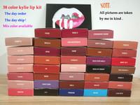 Wholesale red hot velvet - 38colors Hot brand Makeup kylie cosmetics kylie jenner lip kit Velvetine liquid matte lipstick in Red Velvet liquid lip gloss