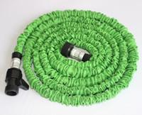 ingrosso buon giardinaggio-In stock Green Blue Hoses 50 FT Tubo flessibile per acqua espandibile da giardino Tubo flessibile con spruzzo Buona testa ugello Spedizione gratuita DHL