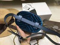 Wholesale plain metal belt buckles - Fashion new famous brand Most popul luxury style velvet Metal buckle bag Love women's pockets girl waist belt bag