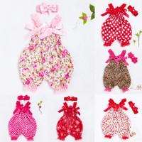 conjunto de pañales recién nacidos al por mayor-2018 Conjuntos de ropa para bebés Niñas Bloomer Recién nacido Sling Ropa Jumpsuit Original Navidad satinado pañal cubierta con diadema
