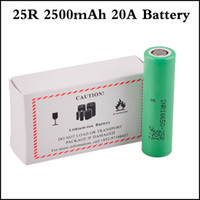 mods için lityum piller toptan satış-Otantik INR18650 25R M Pil 2500 mAh 20A Deşarj Düz Üst Vape Lityum 18650 Pil için Alien G priv RX2 / 3 mod