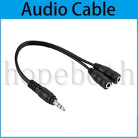 Wholesale best smartphone prices for sale – best 23cm to Audio Cable Adapter Line conversion head into two Audio Cable For headset computer mp3 player Smartphone Best Price