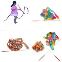 ingrosso il nastro gioca i bambini-Danza Prop Bambini Giocattolo per bambini Perform Ribbon Stage Show Mix Colore Ginnastica artistica Nastro di seta Art Kindergarten Creative 1 6qg V