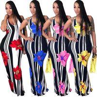 vestido adelgazante de cucharada al por mayor-Envío Gratis Mujeres Sexy Scoop Neck Impreso Maxi Bodycon Slim Fit Vestido Largo Sin Mangas XXXL Más Tamaño