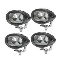 светодиодные прожекторы для автомобилей оптовых-20w 12v24v Автомобильные противотуманные фары LED Мотоцикл Белый прожектор Лампа Внедорожник Прожекторы Фары Светодиодные лампы 4x4