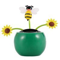84d6590736b7f3 Hot Sale Mini Cute New Solar Powered Flip Flap Dancing Flower For Car Swing  Dancing Flower Toy Gift