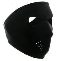 Wholesale skull full face ski mask for sale - in Winter Cycling Skiing Hiking Bike Bicycle Hunting Full Face Mask Reversible Neoprene Skull Half Face Mask Sports Mask