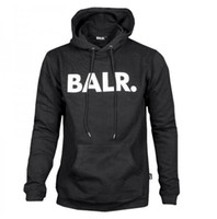 Wholesale Fleece Coolers - 2017 Fleece BALR Casual Unisex Hoodies Sweatshirt Cool Hip Pop Pullover Mens&women Sportwear Coat Jogger Tracksuit Fashion