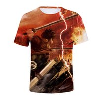 ingrosso stampe giganti-3D Anime Attack on Titan tshirt Personaggi Stampe t-shirt Attack Giant Uomini / Donne New Hot 3D t shirt Estate Casual top