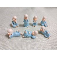 ingrosso mini figurine-7pcs Mini Monks Figurines Zen e Shaolin Ornamenti decorativi Desktop Miniature Fairy Garden Terraium Home Garden Decoration