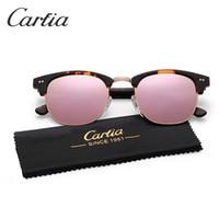 Wholesale metal sights - New arrive mirror Carfia sunglasses for women 5109 acetate metal sunglasses brands oculos de sol feminino 2018 vintage 51mm fashion sunglass