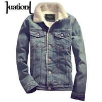 Wholesale Jaqueta Jeans Masculina - Huation New Parka Men Denim Jackets and Coats Winter Warm Brand Clothing Mens Thick Jeans Jacket Male overcoat jaqueta masculina