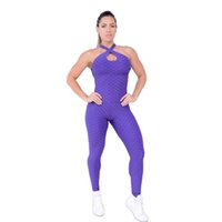 ingrosso yoga jumpsuits-Reno Jesse 2018 Donna Tuta Yoga Set Palestra Sexy Sport Fitness Tuta Pantaloni Set Yoga Sexy Tuta intera SportClothing